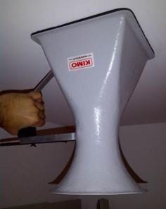 cone de débit de ventilation